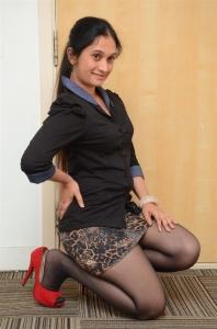 Actress Priyanka Pallavi Hot Photos in Black Dress