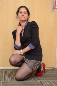Actress Priyanka Pallavi Black Dress Photos