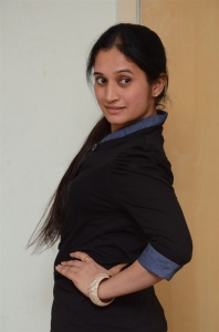 Nenostha Movie Actress Priyanka Pallavi Photos in Black Dress