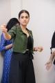 Actress Shraddha Das @ PSV Garuda Vega Movie Team visits Bramaramba Theater Photos