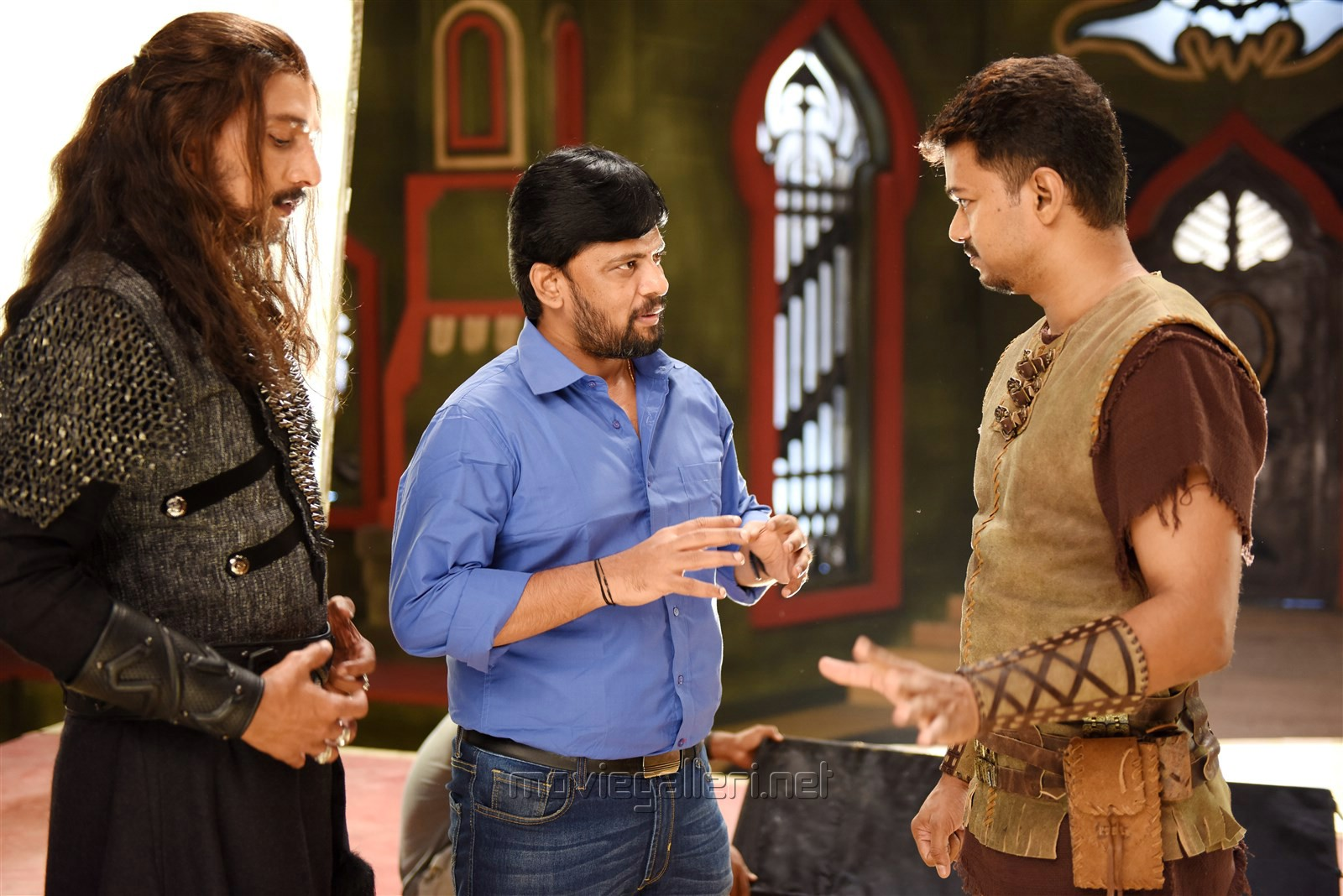 Sudeep, Chimbu Devan, Vijay in Puli Tamil Movie Stills