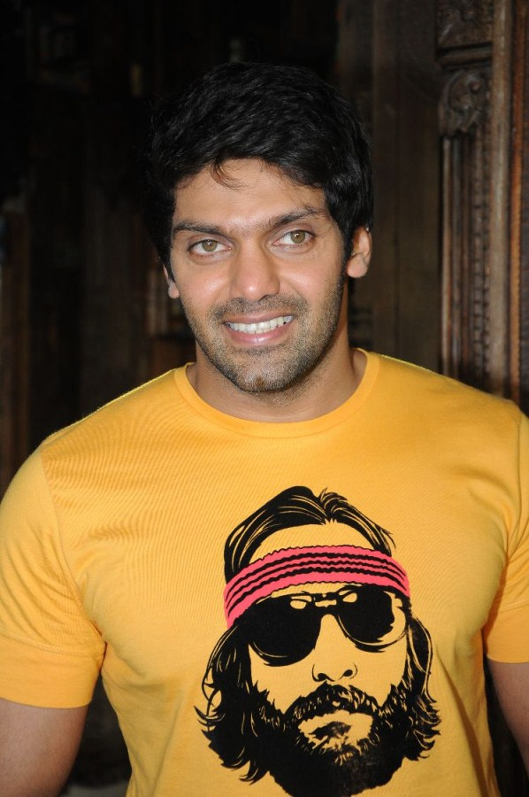 Actor arya at puthagam audio launch stills gallery view