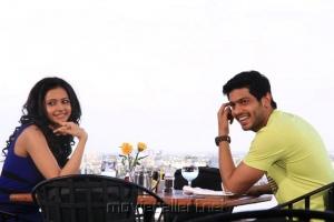 Sathya,Rakul Preet Singh at Puthagam Shooting Spot Stills