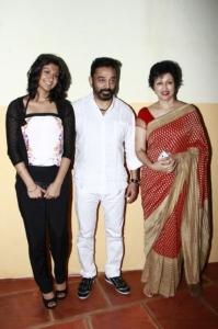 Subbulakshmi, Kamal, Gauthami at Puthiya Thalaimurai Thamizhan Awards 2013 Photos
