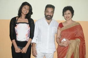 Subbulakshmi, Kamal, Gautami at Puthiya Thalaimurai Thamizhan Awards 2013 Photos