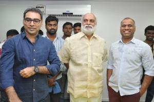 Prakash Kovelamudi, K Raghavendra Rao @ PVP Cinemas Prod No 10 Movie Pooja Stills