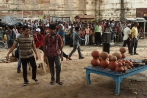 Actor Dhanush at Raanjhnaa Movie On Location Stills