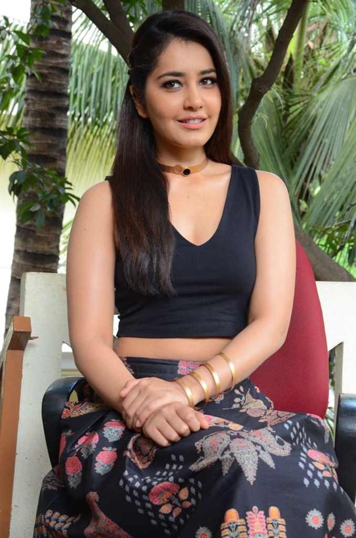 Actress Raashi Khanna Stills in Long Skirt