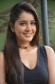 Actress Raashi Khanna Stills in Black Sleeveless Top