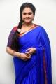 Tamil Actress Manthra in Blue Saree Photos