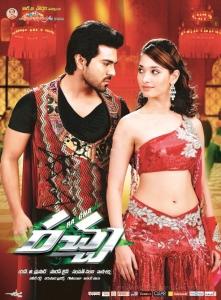 Ram Charan, Tamanna in Racha Movie Release Posters