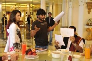 Actress Tamanna in Racha Movie Working Stills