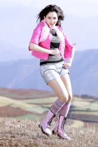 Racha Tamanna Hot Pics in Pink Dress