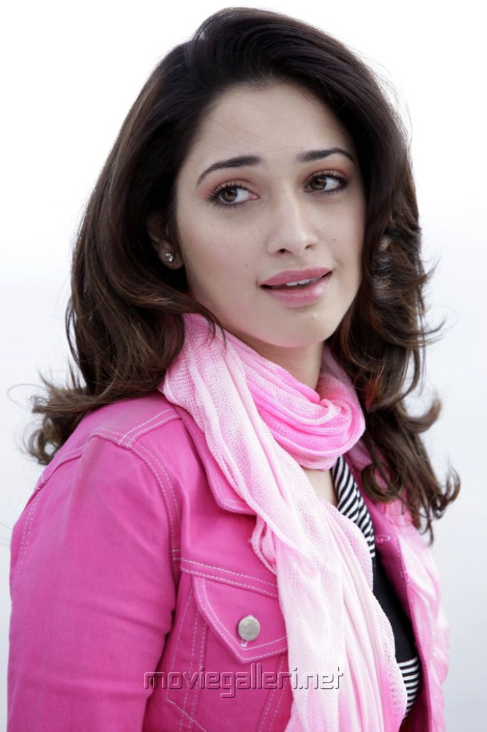 Racha Tamanna Cute Stills in Pink Dress