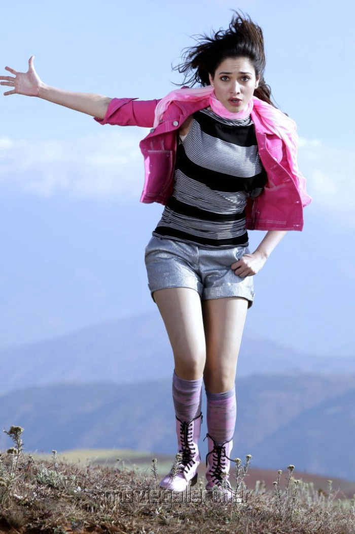 Racha Tamanna Stills in Pink Dress