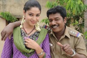 Actress Angana, Karunas in Ragalaipuram Tamil Movie Stills