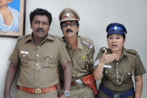 Karunas, Manobala, Kovai Sarala in Ragalaipuram Movie Stills