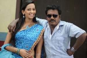 Sanjana Singh, Karunas in Ragalaipuram Movie Stills