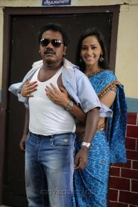 Karunas, Sanjana Singh in Ragalaipuram Movie Hot Stills