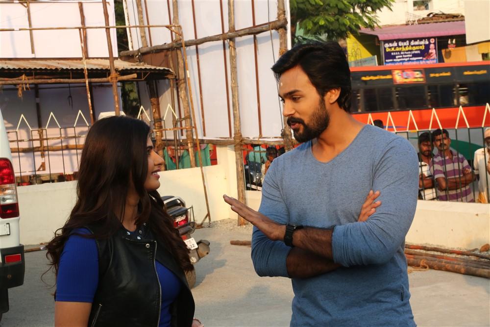 Ashima Narwal, Arav @ Raja Bheema Movie Pooja Stills