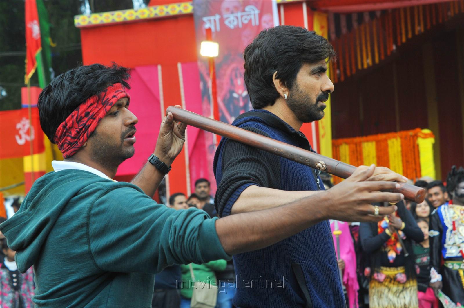 Director Anil Ravipudi, Hero Ravi Teja @ Raja The Great Movie Working Stills