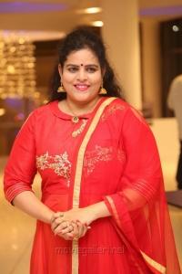 Actress Karate Kalyani @ Raja The Great Success Meet Stills