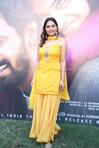 Actress Srushti Dange @ Rajavukku Check Movie Audio Launch Photos