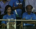 Soundarya Rajinikanth & Superstar Rajini @ 2011 World Cup Final