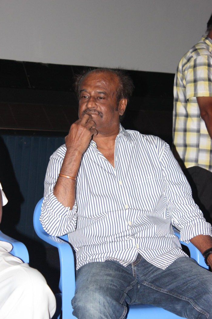 Rajinikanth at Sivaji 3D Movie Trailer Launch Stills