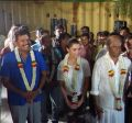 Shankar, Amy Jackson, Rajinikanth @ 2.0 Movie Ayudha Poojai Celebration Stills