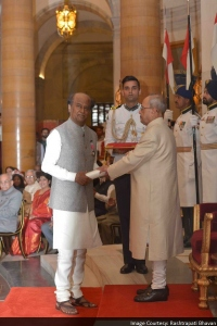 Rajinikanth & Pranab Mukherjee @ Padma Vibhushan Award Function