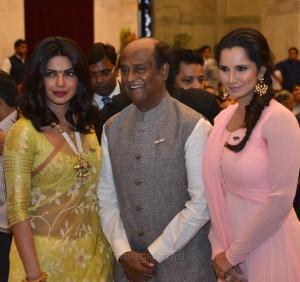 Priyanka Chopra, Rajinikanth, Sania Mirza @ Padma Vibhushan Award Function