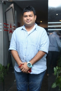 Music Director S Thaman @ Raju Gari Gadhi 2 Success Meet Stills