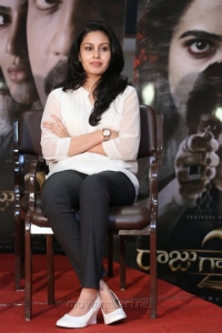 Actress Abhinaya @ Raju Gari Gadhi 2 Success Meet Stills