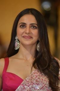 Actress Rakul Preet Singh Saree Images @ Konda Polam Pre Release