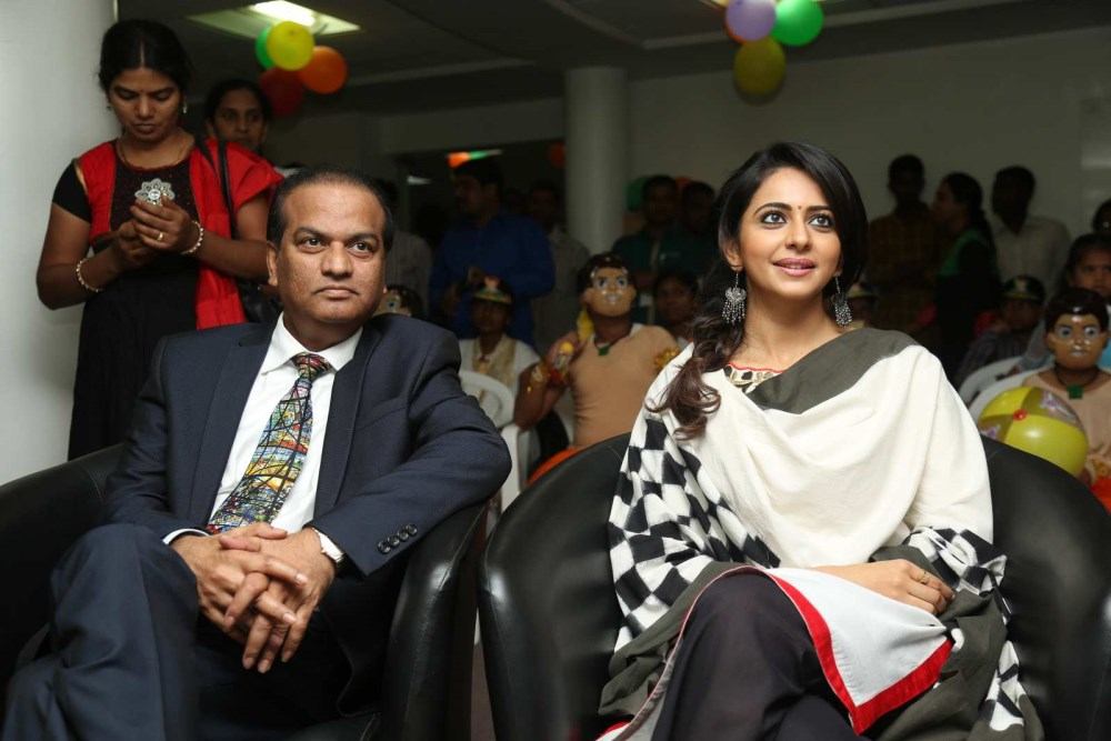 Rakul Preet Singh attends Chidren's Day celebrations at Apollo Cancer Hospital