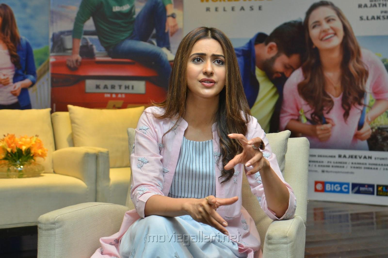 Dev Movie Actress Rakul Preet Interview Images