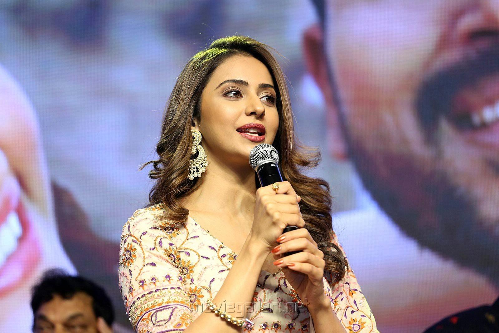 Actress Rakul Preet Photos @ Dev Movie Pre Release