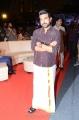Actor Ram Charan Images in Dark Brown Shirt & White Veshti