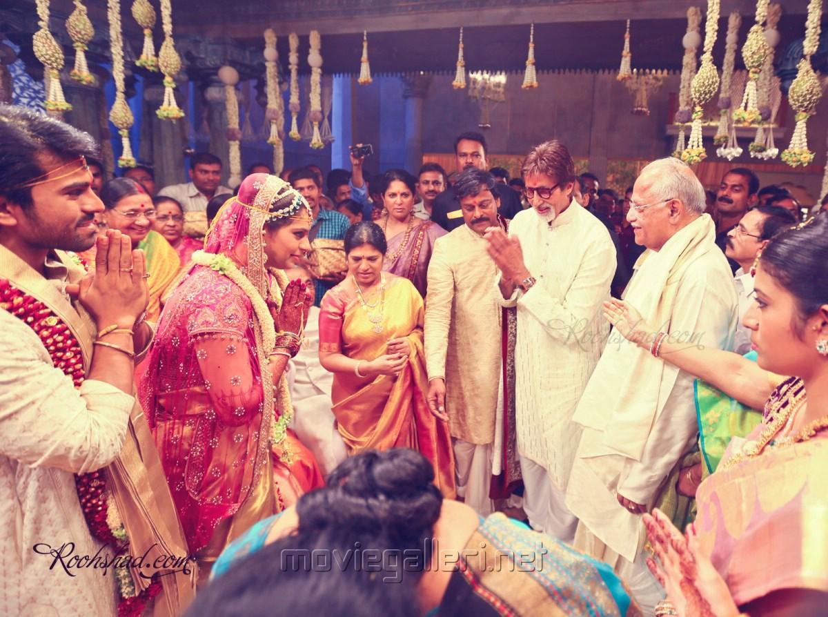 Amitabh Bachchan at Ram Charan Teja Marriage Photos   Gallery View  Amitabh Bachchan Marriage Photos
