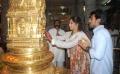 Ram Charan and Upasana visit tirupati after wedding