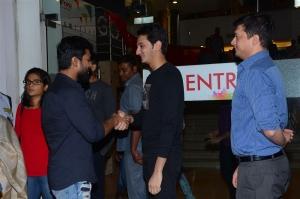 Ram Charan, Upasana watches Dhruva Movie @ INOX GVK, Hyderabad