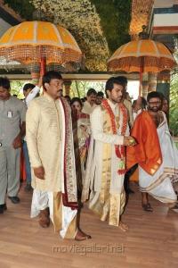 Megastar Chiranjeevi at Ram Charan Teja Wedding Pics Stills