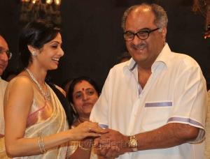 Sridevi & Boney Kapoor at Ram Charan Upasana Wedding Pics