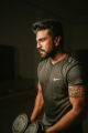 Actor Ram Charan Workout at Gym Photos