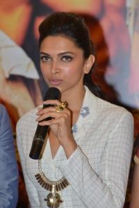 Actress Deepika Padukone @ Ram-Leela Promotion at Kalanikethan, Hyderabad