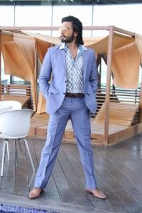 Actor Ranveer Singh @ Ram-Leela Promotion at Kalanikethan, Hyderabad