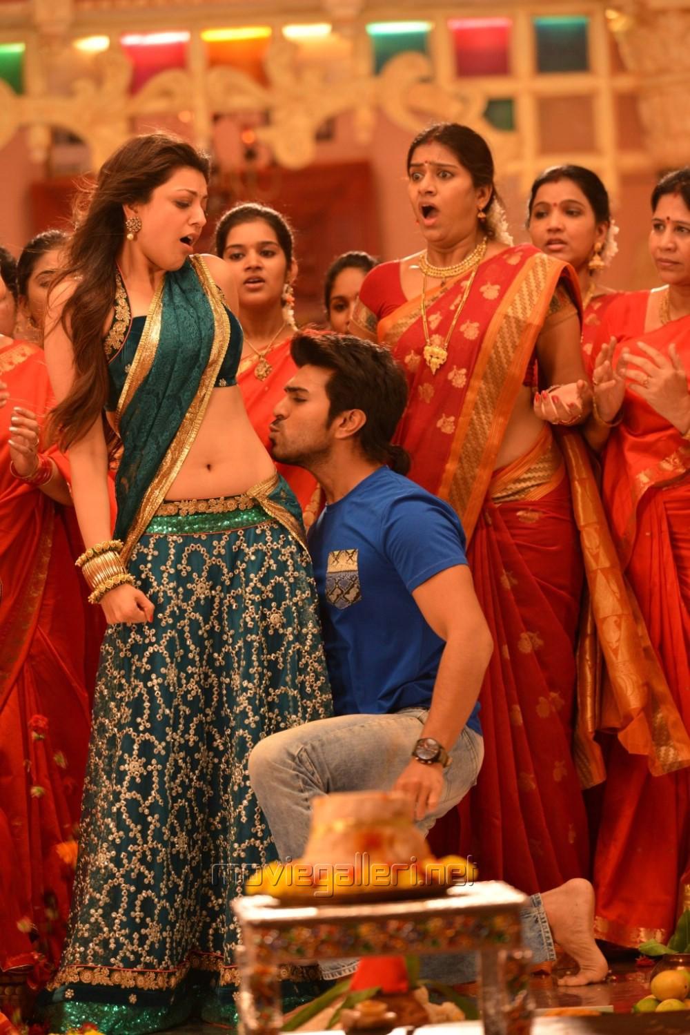 Kajal Agarwal, Ram Charan in Ram Leela Tamil Movie Stills