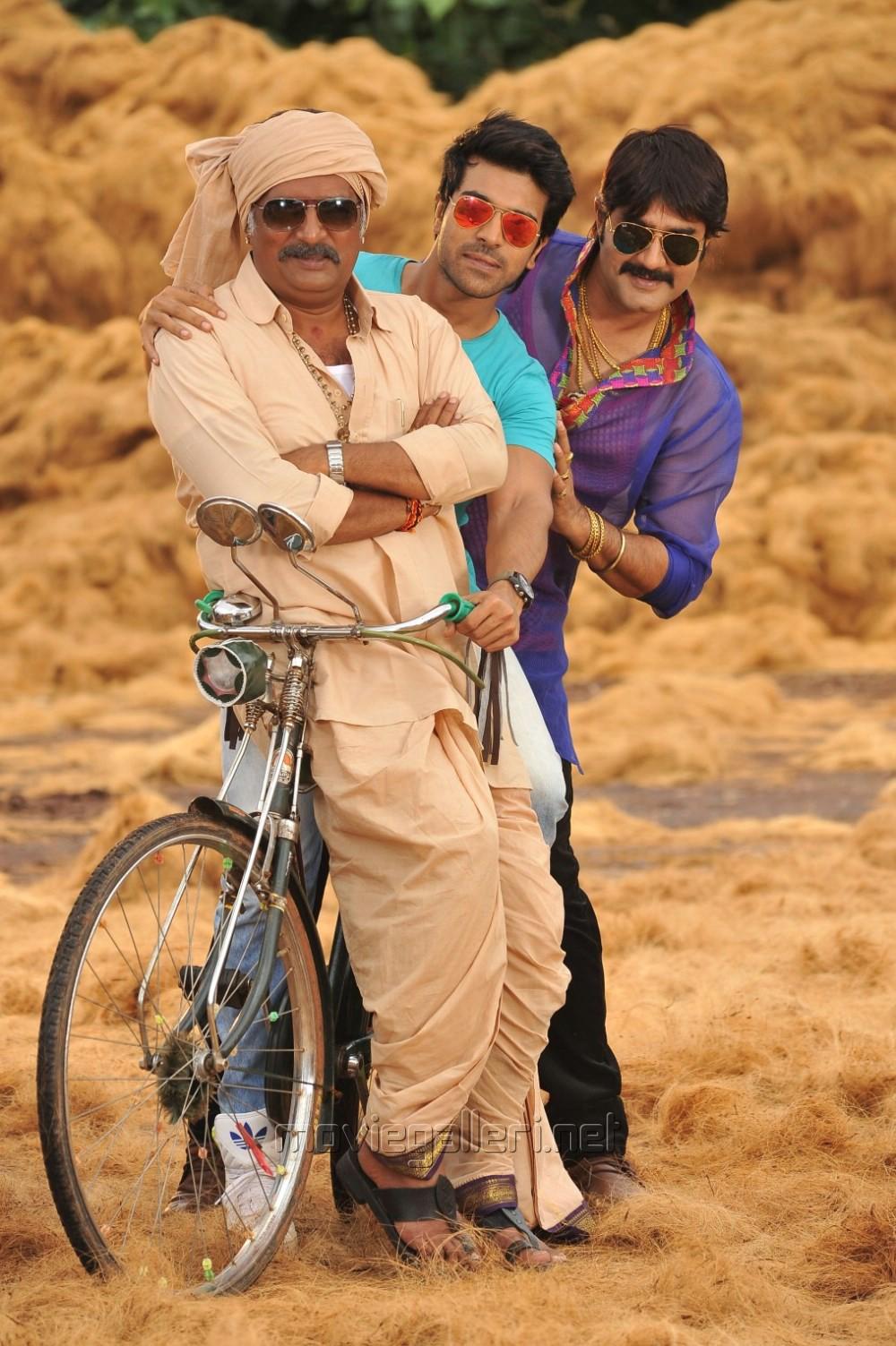 Prakash Raj, Ram Charan, Srikanth in Ram Leela Tamil Movie Stills