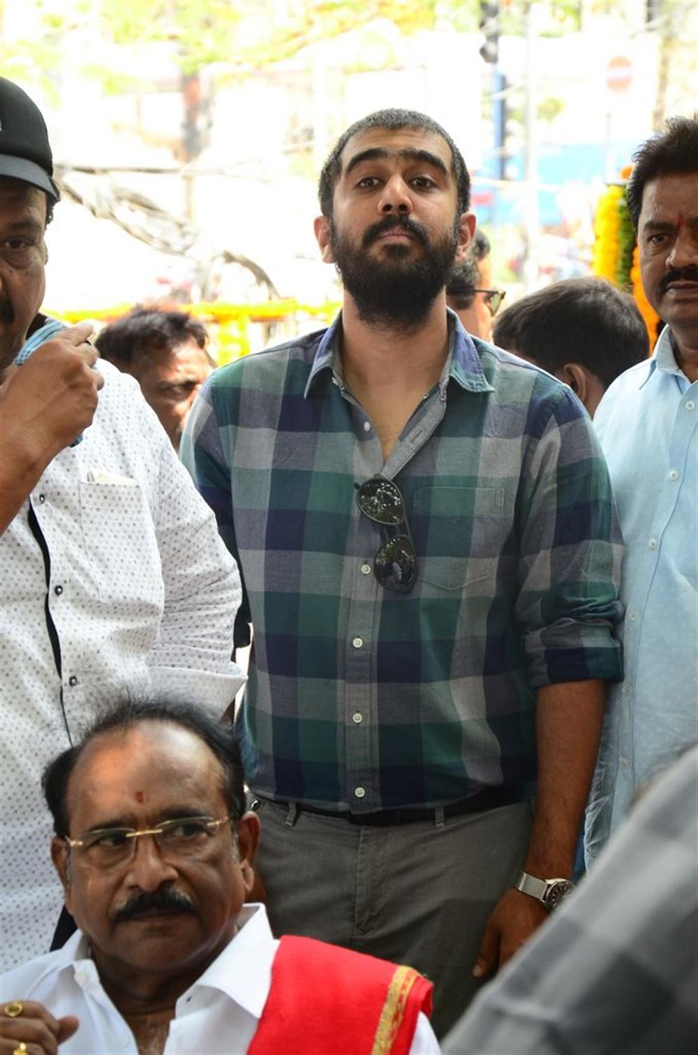 Suresh Babu's son Abhiram @ Daggubati Ramanaidu Statue inauguration @ Film Chamber Photos